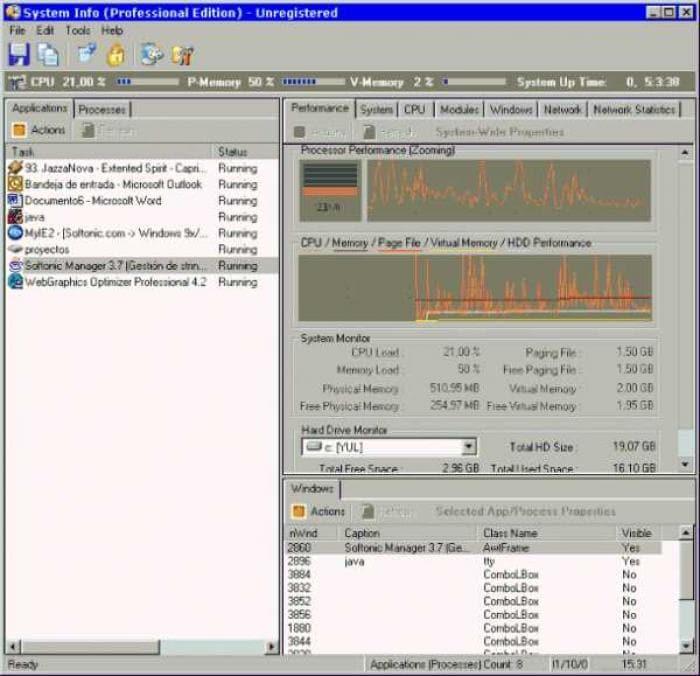 Wiz-Technology System Analyzer