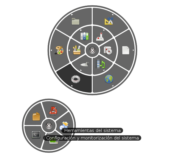 Circular Application Menu